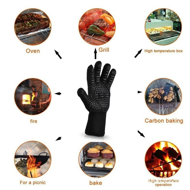 Heat And Cut Resistant Grill Gloves Barbecue BBQ