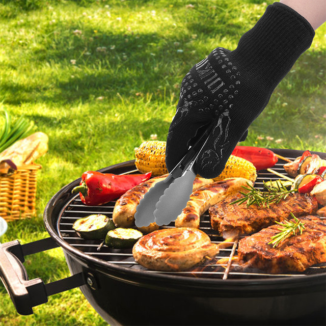 Heat And Cut Resistant BBQ Gloves Don't Get Burned Grill